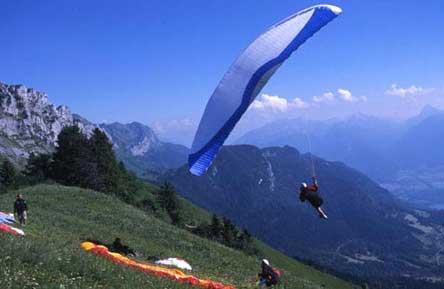 Blue Thermal Paragliding